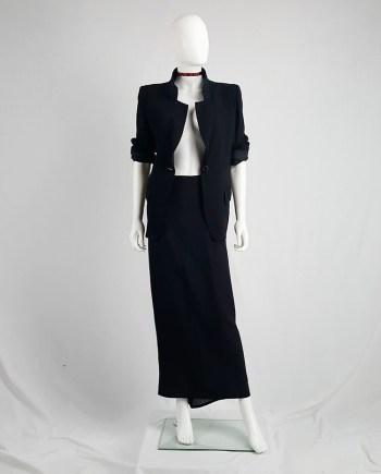 Ann Demeulemeester black maxi skirt with back wrap