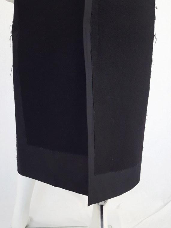 vintage Comme des Garcons black paneled maxi skirt fall 1997 122503