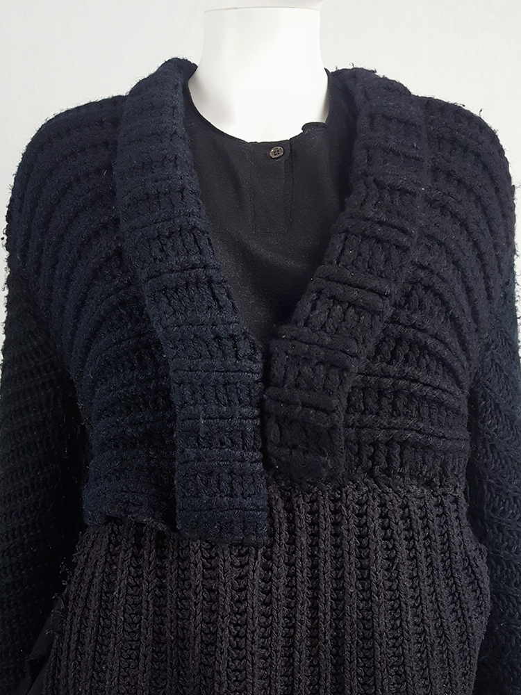 vintage Maison Martin Margiela artisanal black jumper made of scarves and jumpers 212406