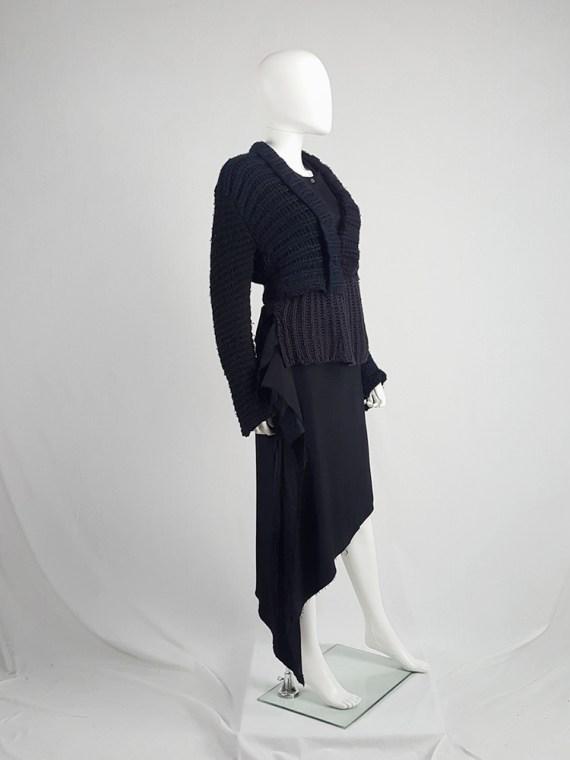 vintage Maison Martin Margiela artisanal black jumper made of scarves and jumpers 212441