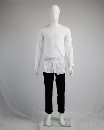 Maison Martin Margiela artisanal t-shirt with shirt sleeves and hem — spring 2002