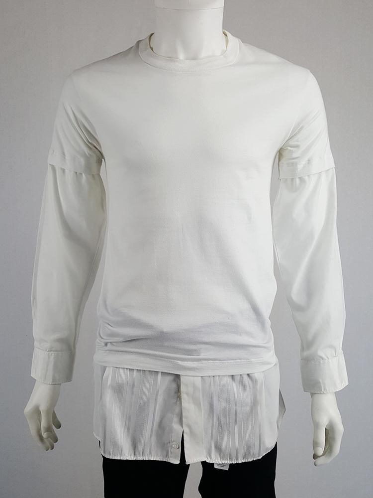 Maison Martin Margiela artisanal t-shirt with shirt sleeves and hem — spring 2002