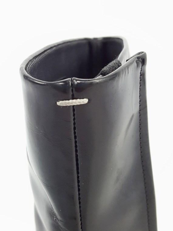 vintage Maison Martin Margiela black patent techno tabi boots fall 2014 134210