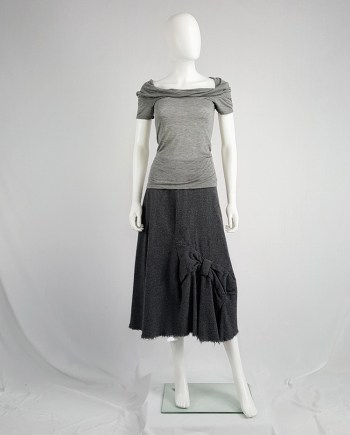 Maison Martin Margiela grey 'chair cover' top with stretched neckline — fall 2006