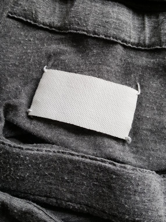 vintage Maison Martin Margiela grey chair cover top with stretched neckline fall 2006 180800(0)
