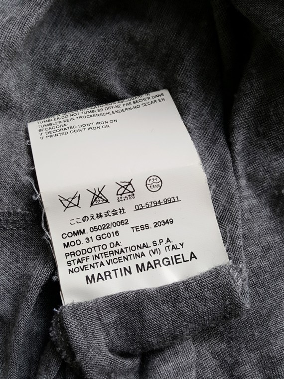vintage Maison Martin Margiela grey chair cover top with stretched neckline fall 2006 180849