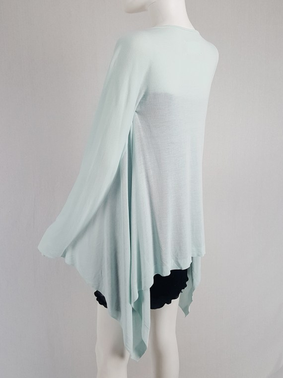 vintage Maison Martin Margiela mint green cardigan with integrated sleeves runway spring 2008 104318