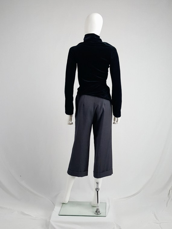 Maison Martin Margiela replica blue 1930s ladys cropped trousers fall 2006