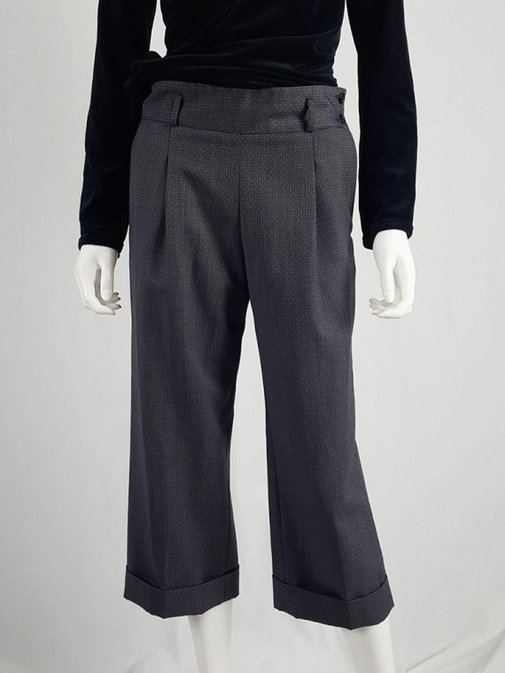 vintage Maison Martin Margiela replica blue 1930s ladys cropped trousers fall 2006 222908