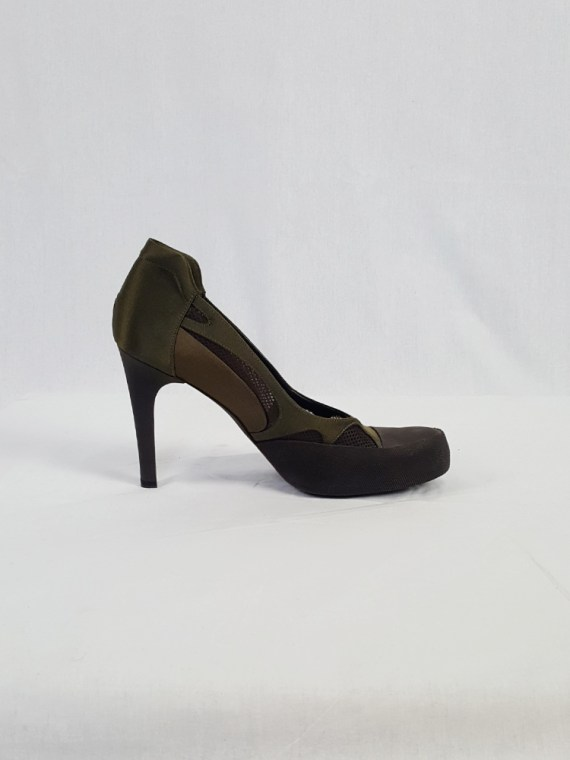 Stella McCartney green and brown pumps with mesh cutouts (39.5)