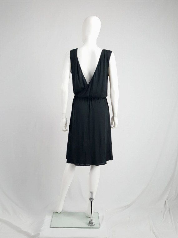 archival Maison Martin Margiela replica black 1970s day dress spring 2006 102422