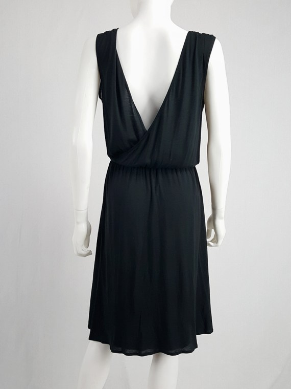 Maison Martin Margiela replica black 1970's day dress — spring 2006