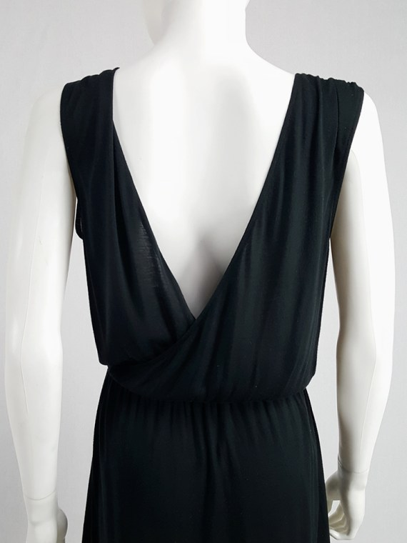archival Maison Martin Margiela replica black 1970s day dress spring 2006 102509