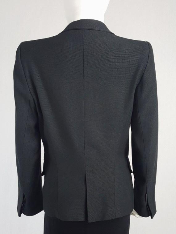 vintage Ann Demeulemeester black blazer with stitched satin lapels 135133(0)