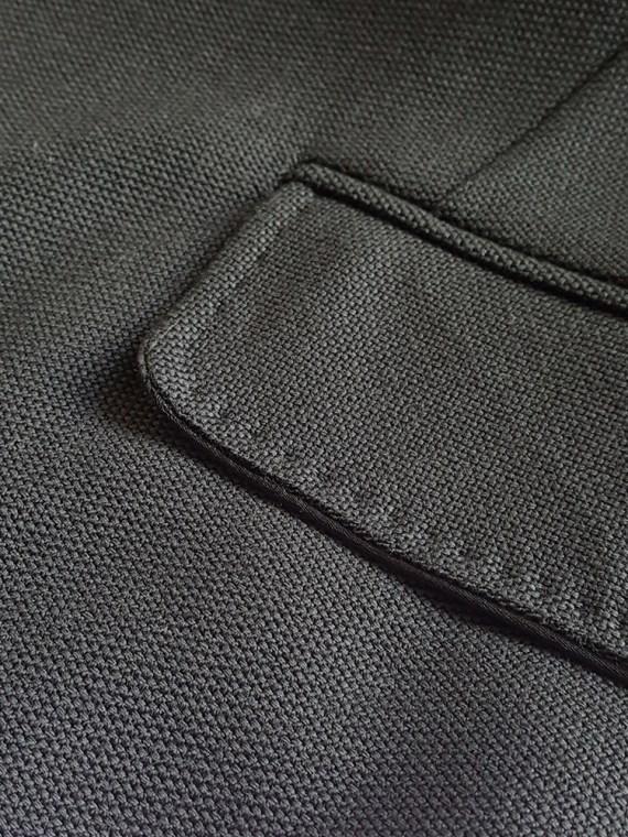 Ann Demeulemeester black blazer with stitched satin lapels