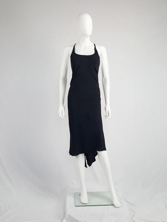 vintage Ann Demeulemeester black strappy dress with mermaid skirt spring 2007 113002