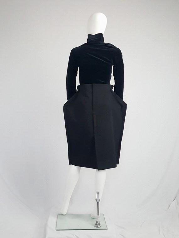 vintage Comme des Garcons black 2D paperdoll skirt fall 2012 111632