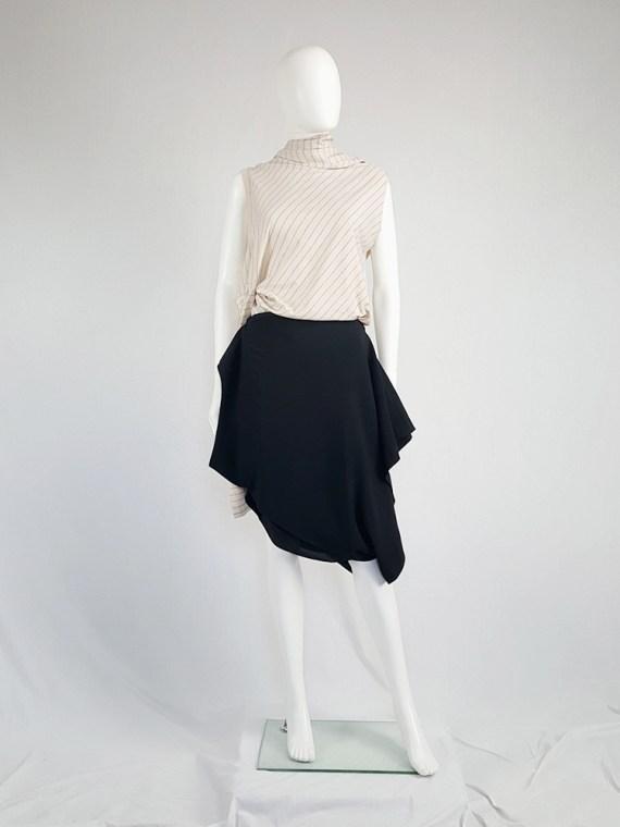 vintage Maison Martin Margiela black sideways worn skirt spring 2005 142657