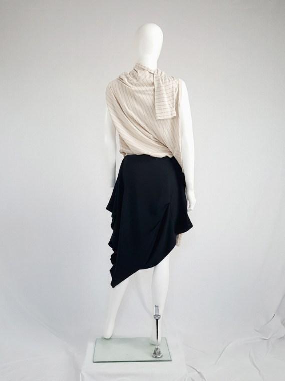 vintage Maison Martin Margiela black sideways worn skirt spring 2005 143013(0)