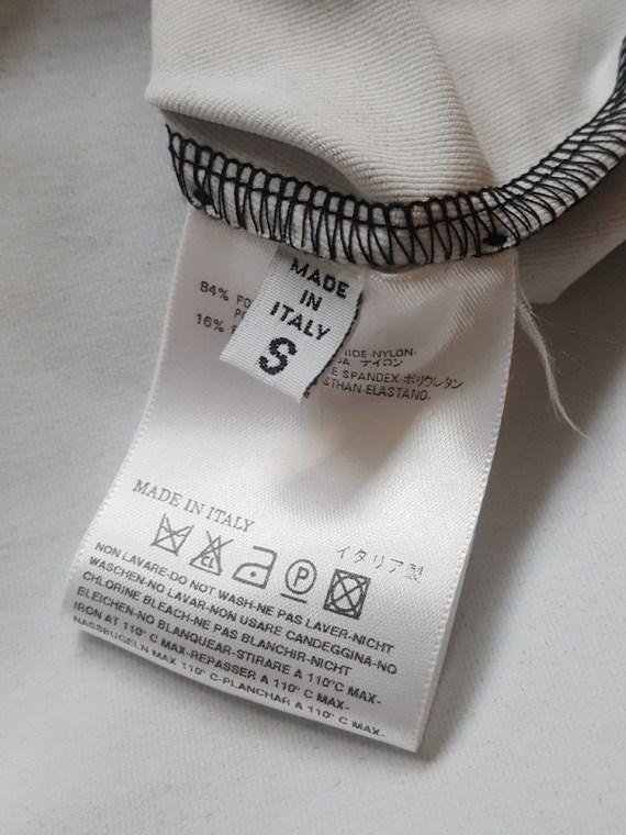 vintage Maison Martin Margiela black trompe l oeil top with peak shoulders fall 2008 101736