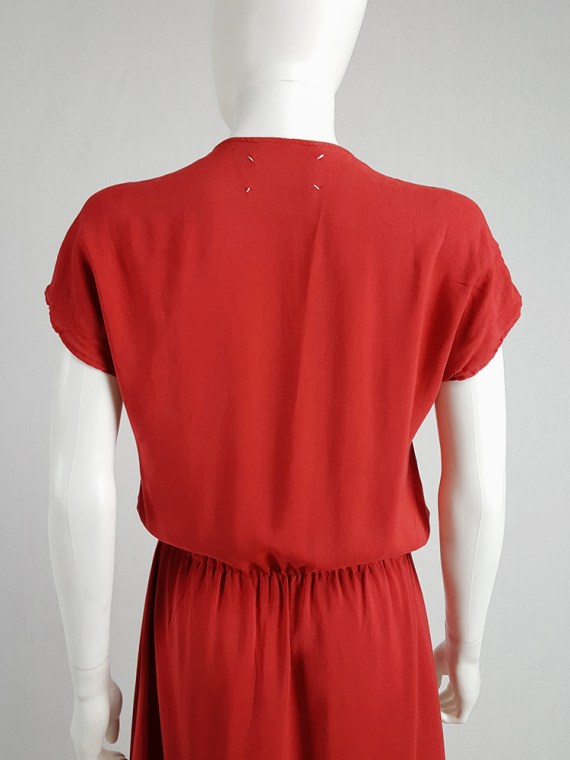 vintage Maison Martin Margiela red dress with pink strap across the chest spring 2007 102953