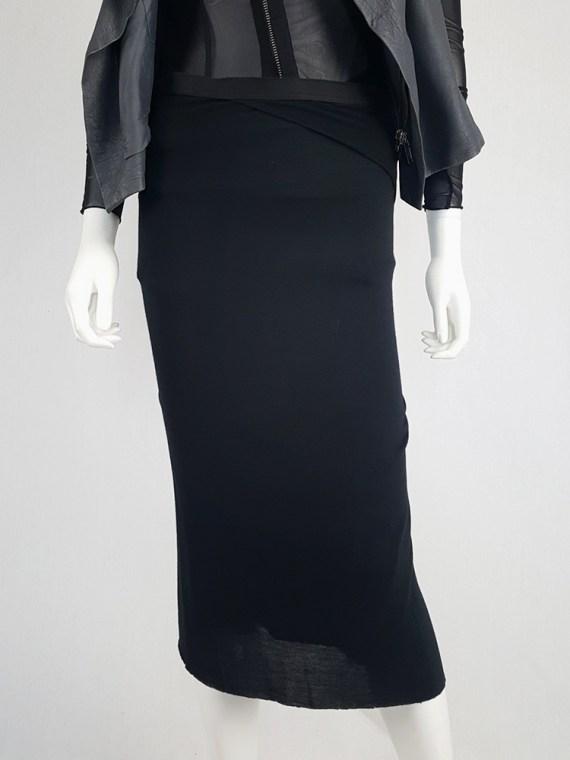 vintage Rick Owens CITROeN black draped skirt with back slit spring 2004 132536(0)