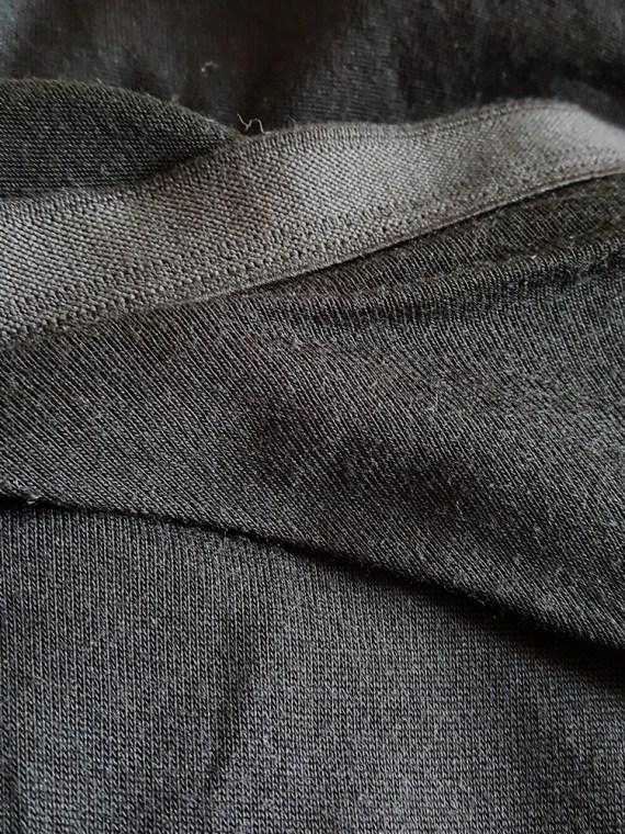 vintage Rick Owens CITROeN black draped skirt with back slit spring 2004 170206