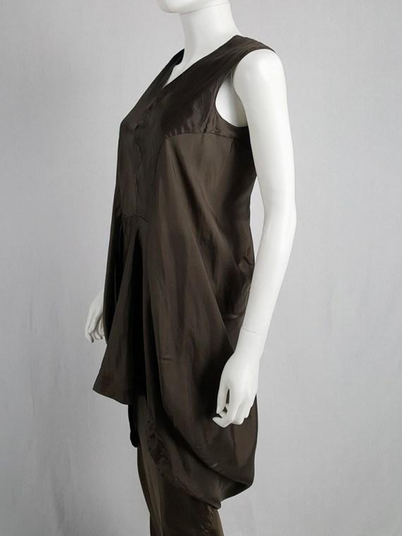 Rick Owens VICIOUS brown asymmetric tunic or dress — spring 2014