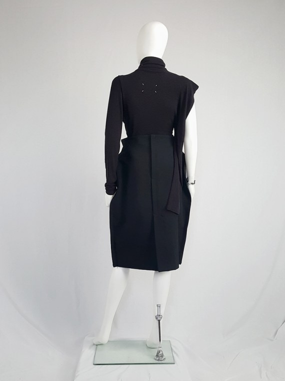 vintage Maison Martin Margiela black jumper with peak shoulder runway fall 2009 110432