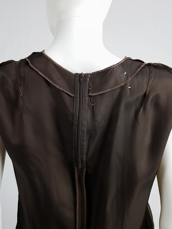 vintage Maison Martin Margiela brown inside-out top in lining fabric runway fall 1995 125236(0)