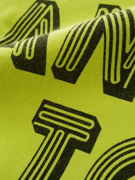 vintage men 10 Maison Martin Margiela yellow t-shirt with dancing to nite print spring 2009 132749