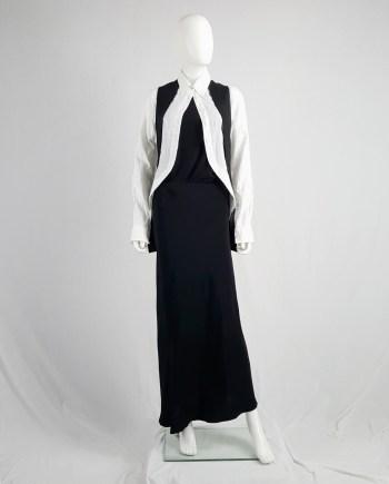 vintage Ann Demeulemeester black maxi skirt with asymmetric hem — 90's