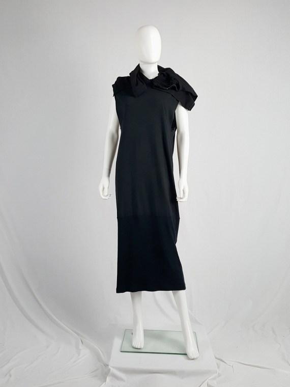 vintage Maison Martin Margiela artisanal black dress with tshirt collar fall 2002 142135