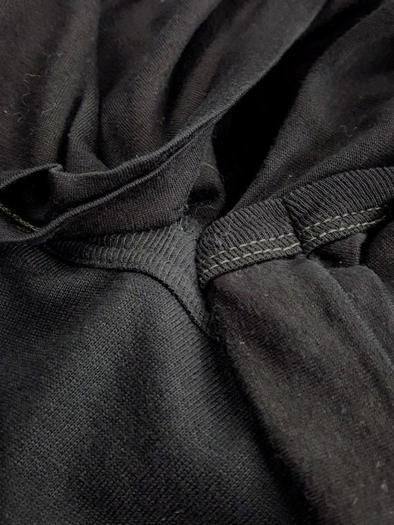 vintage Maison Martin Margiela artisanal black dress with tshirt collar fall 2002 142425