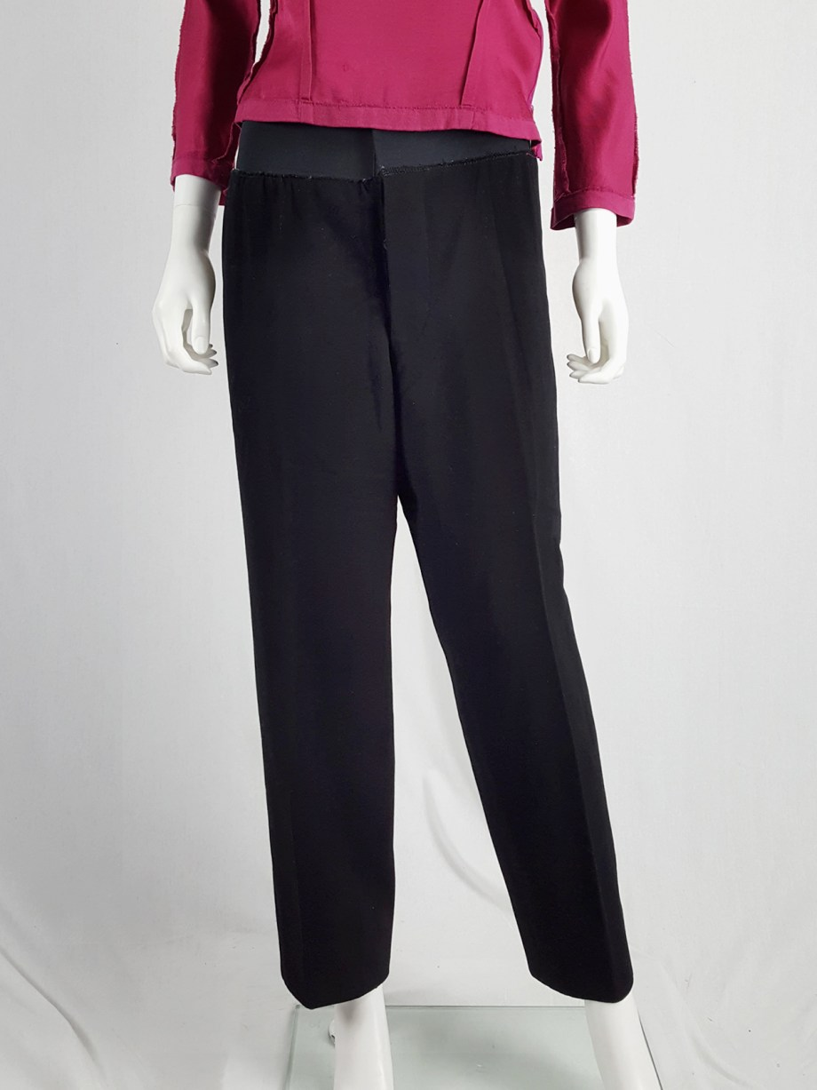 Maison Martin Margiela artisanal black trousers with elasticated waist — fall 1995