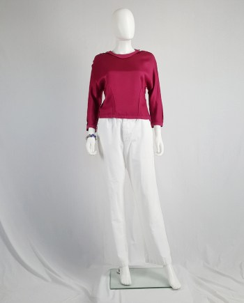 Maison Martin Margiela pink jumper 'reproduction of a dress lining' — fall 1995