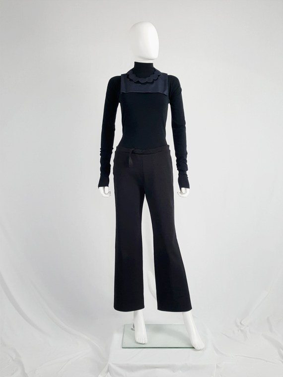 vintageMaison Martin Margiela black trousers with pulled waist spring 2000 113906