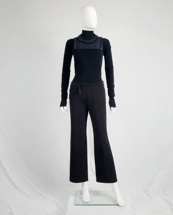 Maison Martin Margiela black trousers with pulled waist — spring 2000