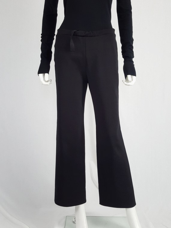 vintageMaison Martin Margiela black trousers with pulled waist spring 2000 114009
