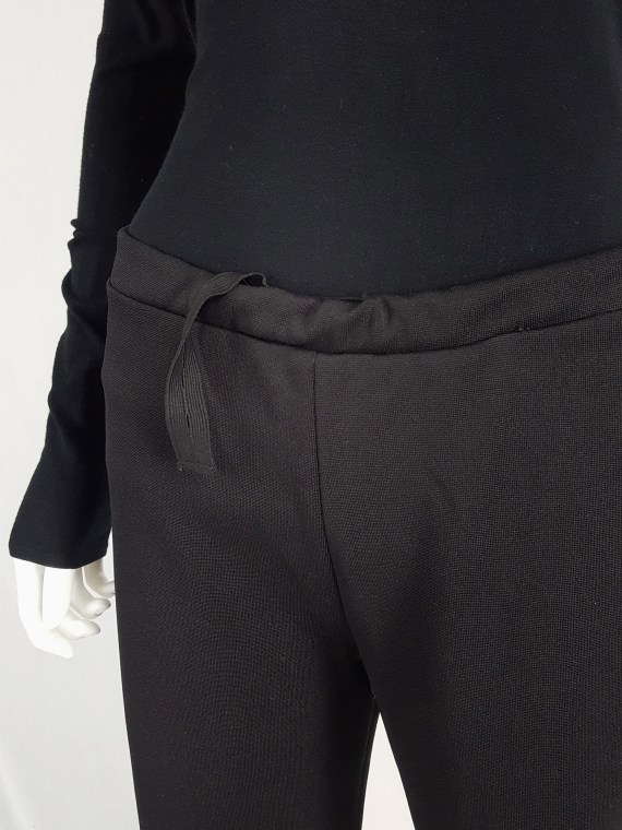 vintageMaison Martin Margiela black trousers with pulled waist spring 2000 114027