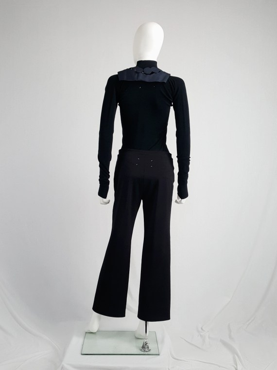 vintageMaison Martin Margiela black trousers with pulled waist spring 2000 114123
