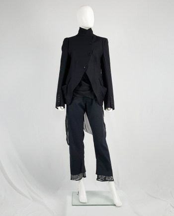 Ann Demeulemeester black asymmetric button-up blazer