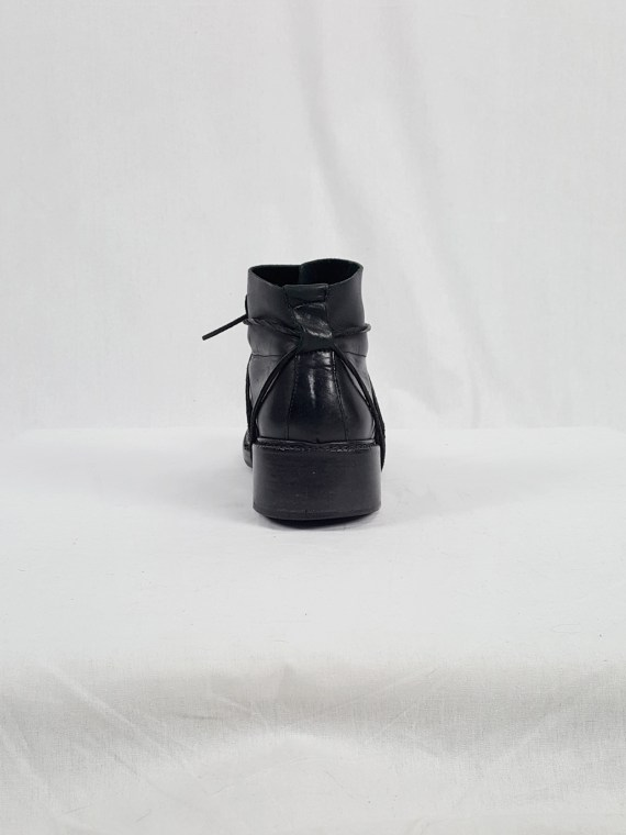 vaniitas vintage Dirk Bikkembergs black boots with laces through the soles 90s archive 120349