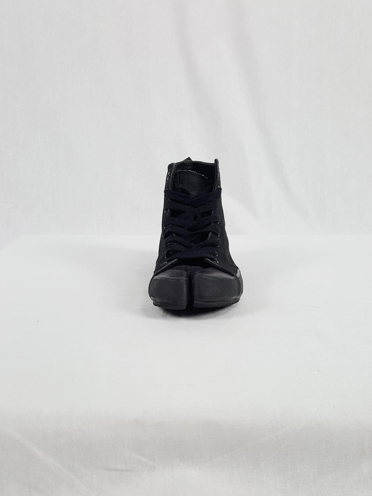 the latest fa88a e9078 Maison Martin Margiela 6 black high-top tabi sneakers (36 ...