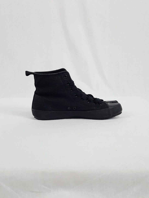 Maison Martin Margiela 6 black high-top tabi sneakers (36) — fall 2002