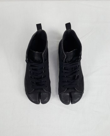 Maison Martin Margiela 6 black high-top tabi sneakers (36) — fall 2002