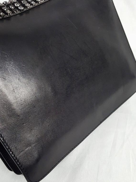 Maison Martin Margiela black shoulder bag with dangling gemstones — spring 2004