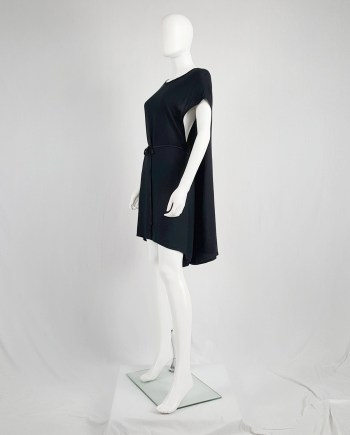 Ann Demeulemeester black grecian dress with open sides