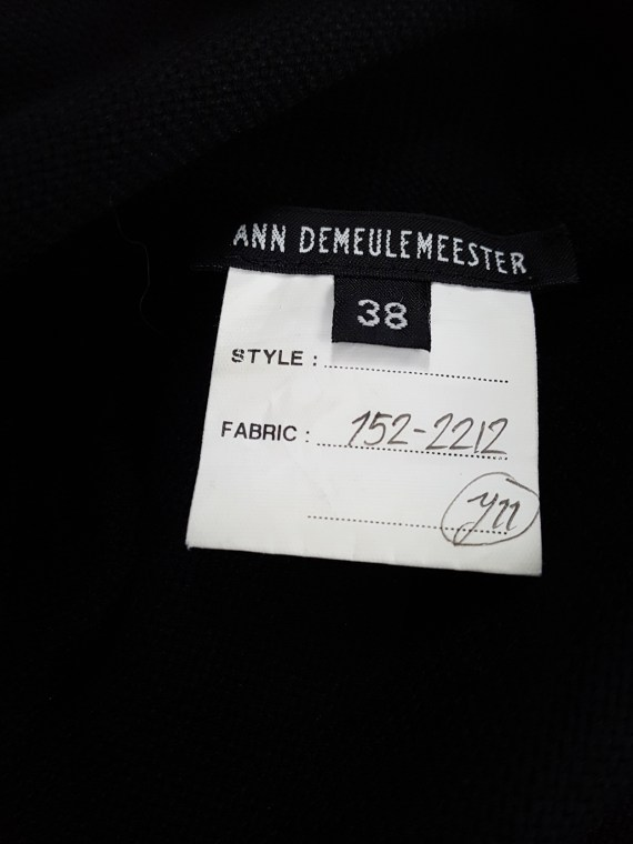 vintage Ann Demeulemeester black tunic with deep v neck fall 2015 122917