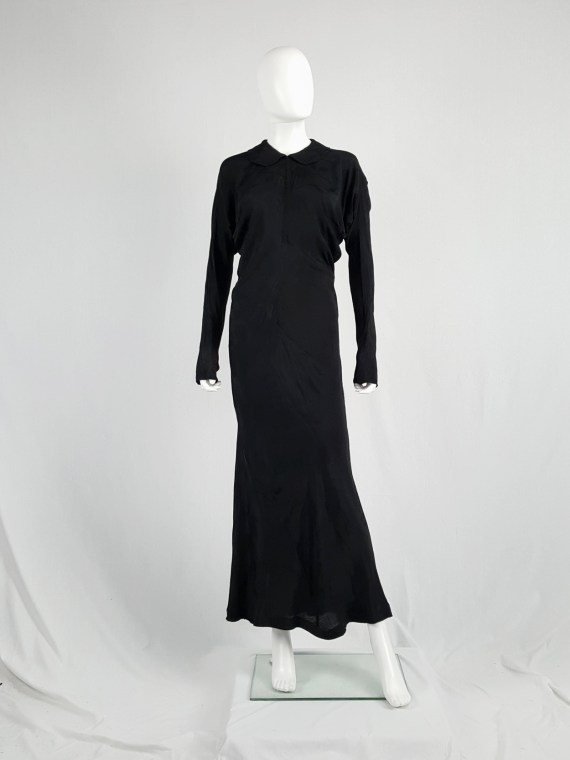 vintage Comme des Garcons black batwing maxi dress fall 1993 112611